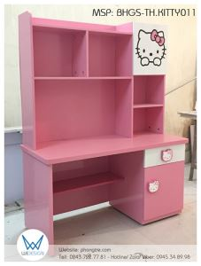 Bàn học tiểu học Hello Kitty BHGS-TH.KITTY011