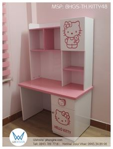 Bàn học tiểu học Hello Kitty BHGS-TH.KITTY48
