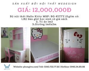 Mix set phòng ngủ Hello Kitty BG-KITTY.12